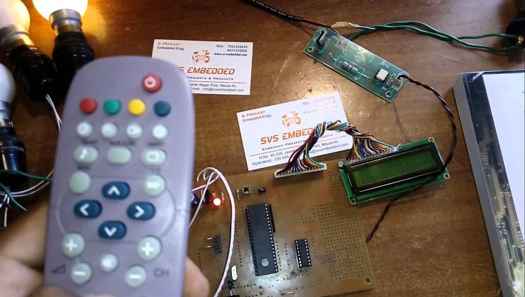 Home automation using television remote control project