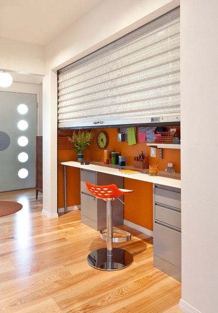 colorful mid century modern residence midcentury home office san diego kropat interior design