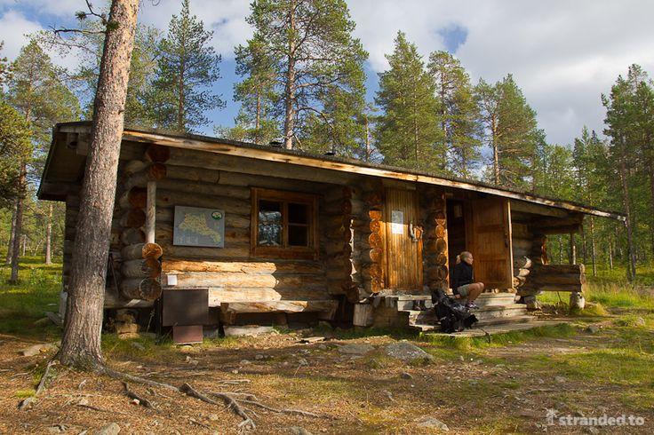 Hiking at the Urho Kekkonen National Park, Lapland, Finland