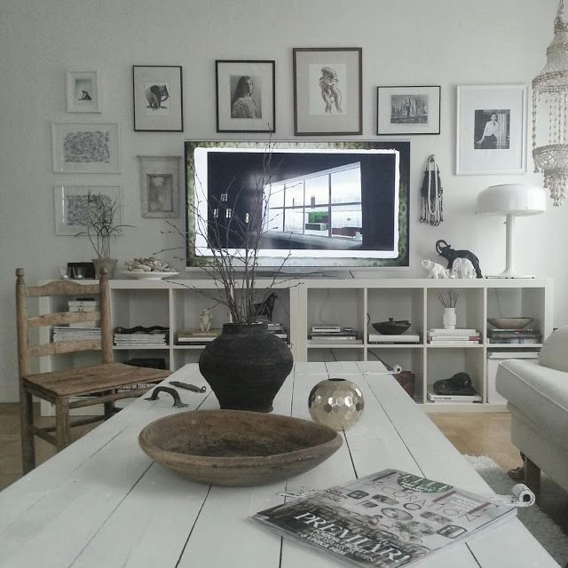 flat screen combined with artwork