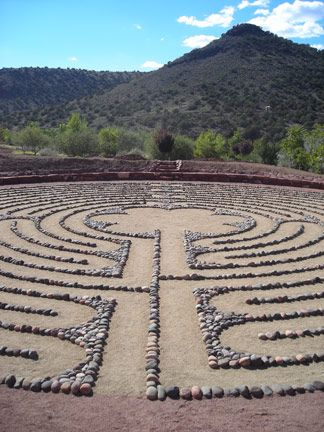 Chartres-type labyrinth (11 rings) #2  Angel Valley Retreat Center