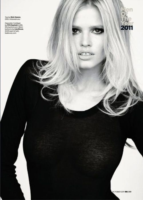 Lara Stone | Mario Testino | GQ UK October 2011 'Woman of the Year' - 3 Sensual Fashion Editorials | Art Exhibits - Anne of Carversville Women's News