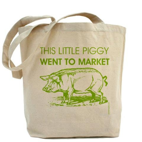 This Little Piggy Went To Market - Canvas Tote Bag