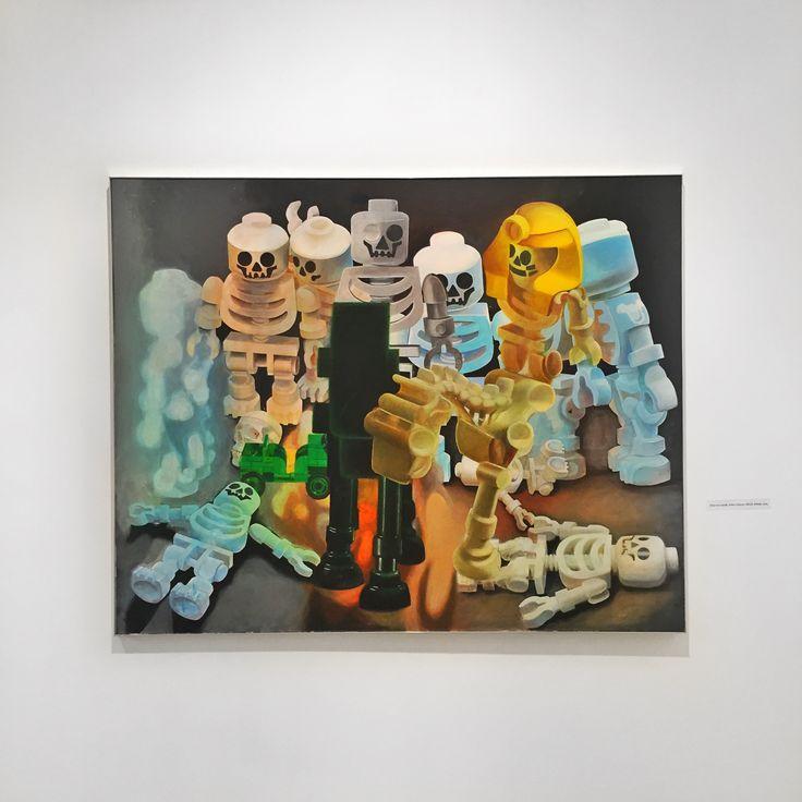 """Zbigniew Gorlak """"Armia Cesarza LE&GO, Ghosts"""" 2014; wystawa """"Akermann, Gorlak, Marszałek, Witkowski"""" w Państwowej Galerii Sztuki w Sopocie (14.11.-13.12.2015) #gorlak #zbigniewgorlak #pgssopot #exhibition #painting #art #artgallery #sopot"""