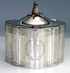 American Sterling Silver Tea Caddy