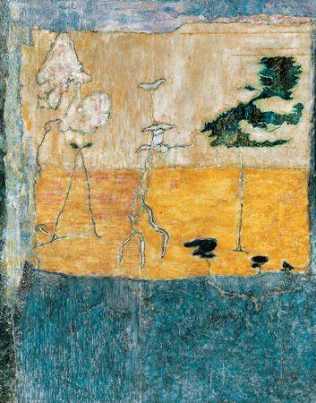 Jardin des Plantes, Paris, 1980, olaj, vászon, 57,5 x 46 cm, magágyűjtemény