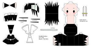 BLEACH Papercraft - Kuchiki Byakuya by Larry-San