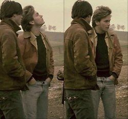 River Phoenix and keanu reeves my own private idaho http://www.pinterest.com/ozlemz/river-phoenix/