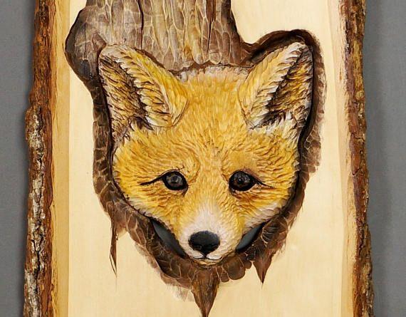 Fox, dieren in hout van Linden, gesneden op hout, sculpturale reliëf met schors, dier Art, oranje, wit, kerstcadeau, OOAK, kunst aan de muur Afmetingen: 11 X 16,5 X 1 1/8 (28 X 42 cm X 3 cm) GRATIS VERZENDING NAAR CANADA EN DE VERENIGDE STATEN Op de foto ziet u het zelfde beeld krijg