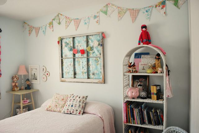 the boo and the boy: my house: Girls, Boys, Old Windows, Boo S Room, Fabric, Bedroom, Window Frames, Girl Rooms, Kids Rooms