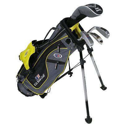 Junior Us Kids Golf Clubs U/L 42 Grey/Yellow Starter Set Club Set Graphite Mint