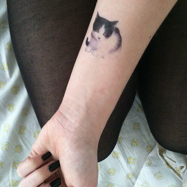 Twitter / Recent images by @hazelcills - Cat tattoo