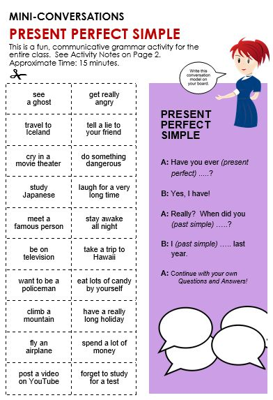 Past Simple Vs Present Perfect Test