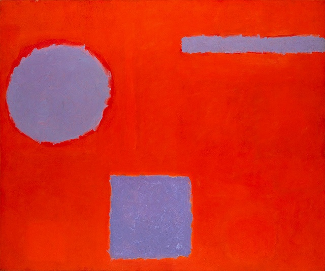 Patrick Heron - Three Blues in Red [1962]