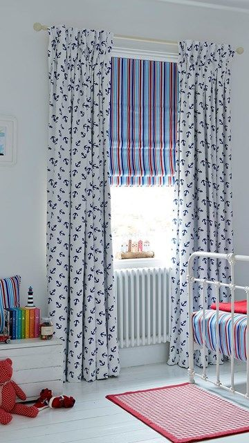 Anchors away with these adorable curtains for kids!