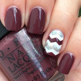 Aggie nails: Chevrons with Opi Scores a goal by Aggies Do it better