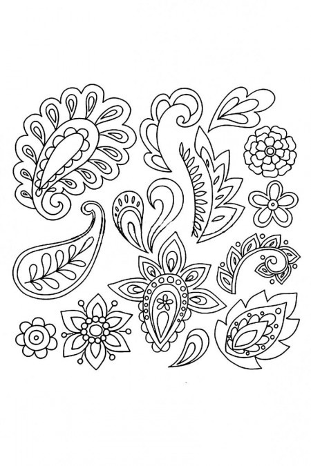 Stock Vector Hand Drawn Abstract Henna Paisley Vector Illustration Doodle Design Elements