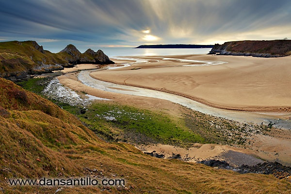 Three Cliffs Bay, Swansea - stunning. Where we do alot of our climbing, coasteering and sea kayaking