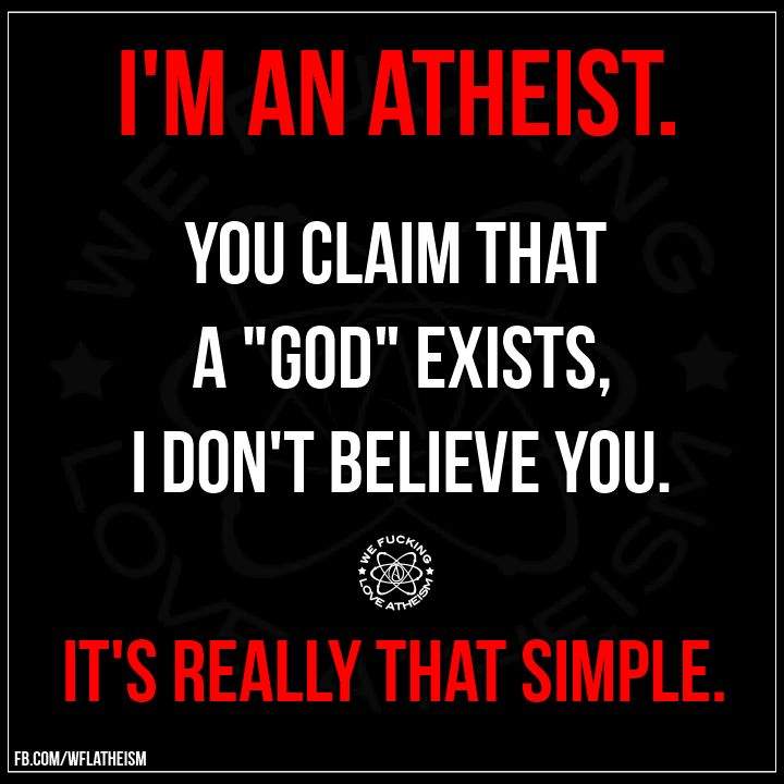 The evidence that religion is fantasy…has always been right there in front of you…all the time…! Religious believers have NO EVIDENCE…! AT ALL…! You're an atheist. Own it…! Then embrace secular...