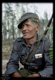 Finnish anonymous soldier photographed August 15, 1941, pin by Paolo Marzioli
