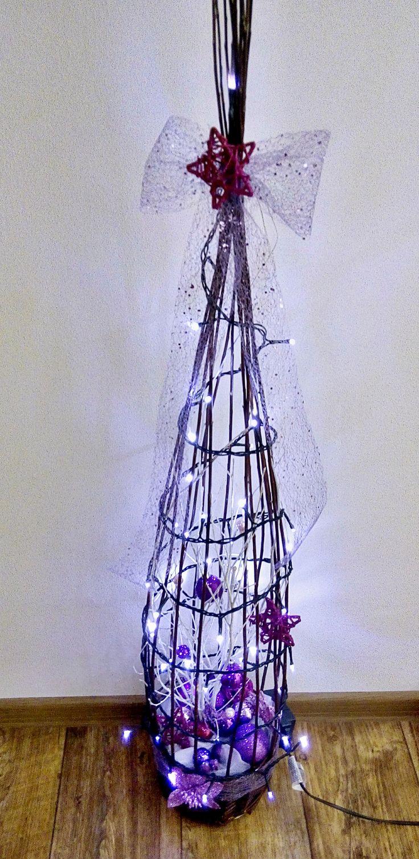 Vánoční koš fialový