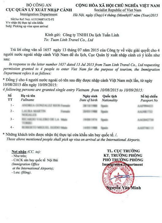 10 best vietnam visa on arrival images on Pinterest - permission to travel letter template