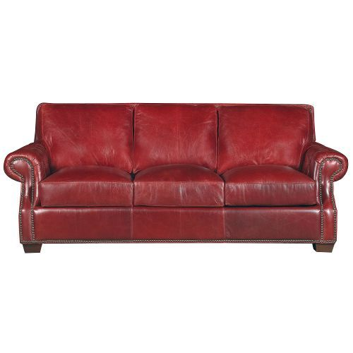Old English Red Traditional Leather Sofa