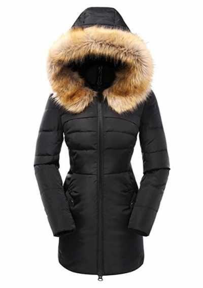 2ccaf61b9d5 Valuker Abrigo de plumas para mujer Parka plumon Ofertas especiales y  promociones Caracteristicas Del Producto