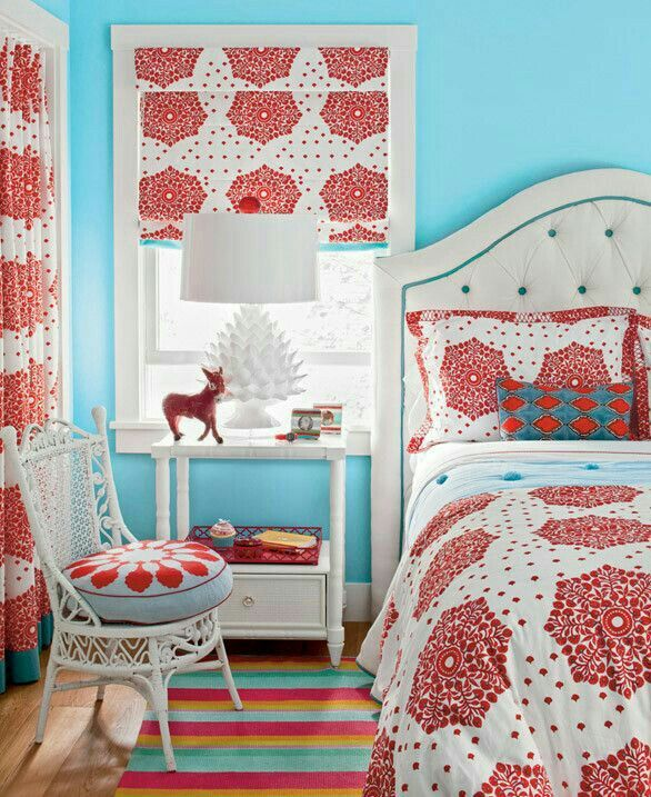 17 Best Light Blue & Red Bedrooms Images On Pinterest