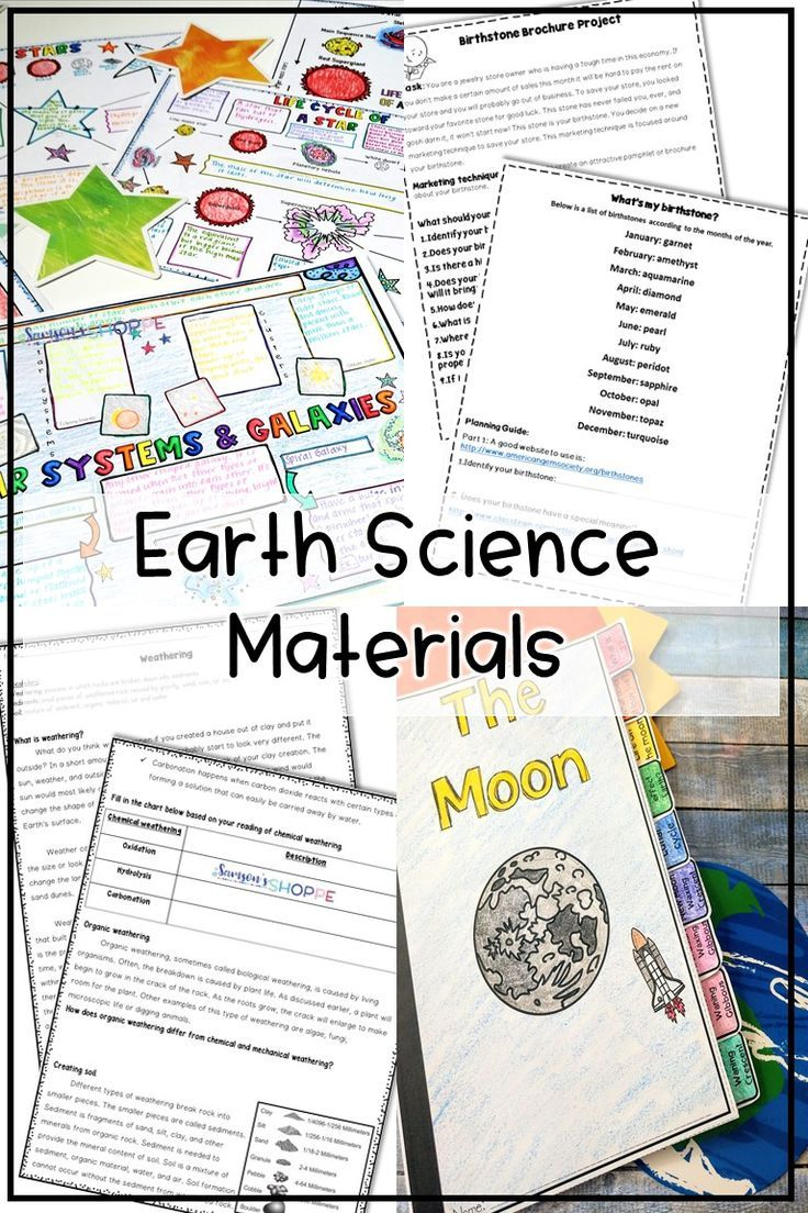 Earth Science Bundle Earth Science Earth Science Lessons Earth And Space Science