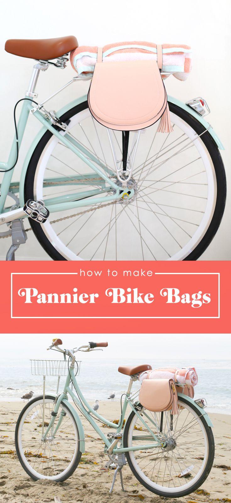 How to make DIY Pannier Bike Bags.