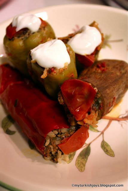 Turkish Etli Sebze Dolmasi: Meat-Stuffed Vegetables. I love this #recipe because you can stuff just about any vegetable you want!