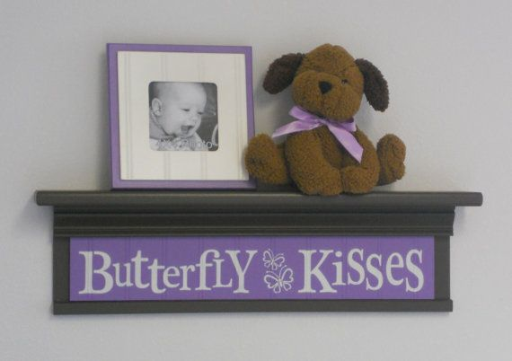 Butterfly Kisses on 24 Shelf Brown and Lilac by NelsonsGifts, $40.00