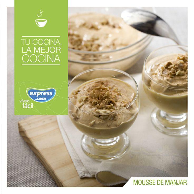 Mousse de manjar. #Dessert #Postre #Recetario #Receta #RecetarioExpress #Lider #Food #Foodporn