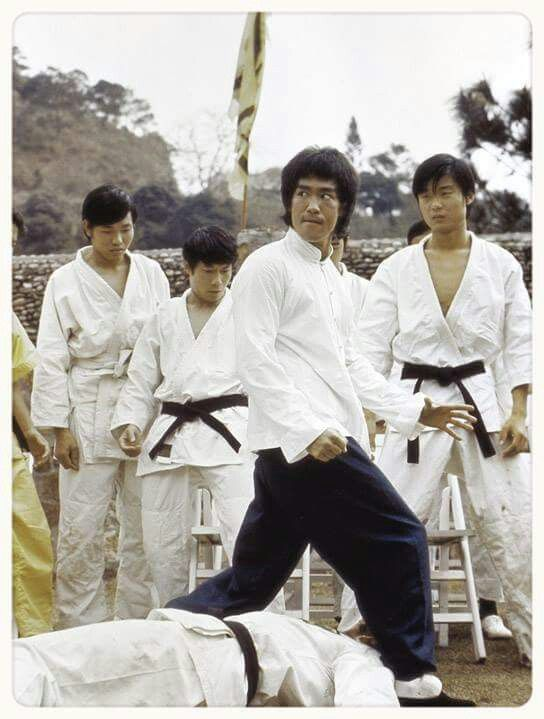 Bruce Lee in Enter the Dragon.