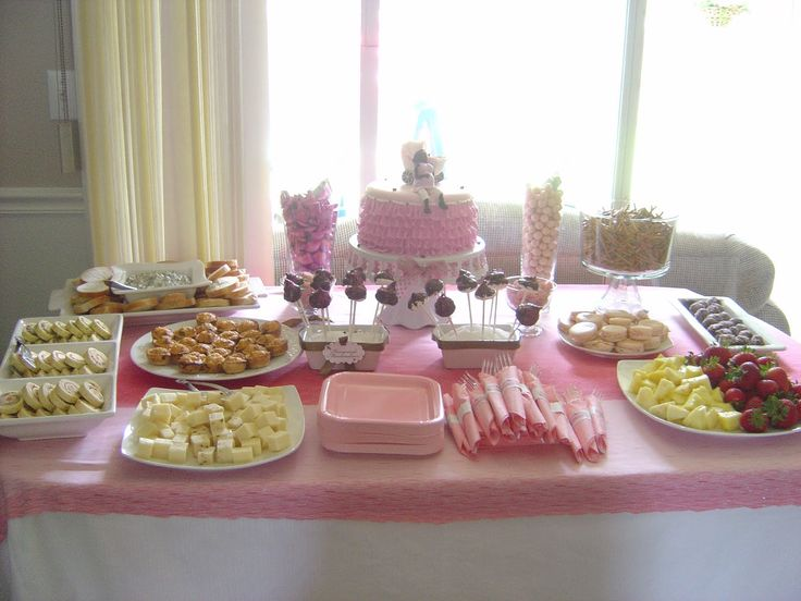 Table Setup For A Baby Shower Saturday June 05 2010