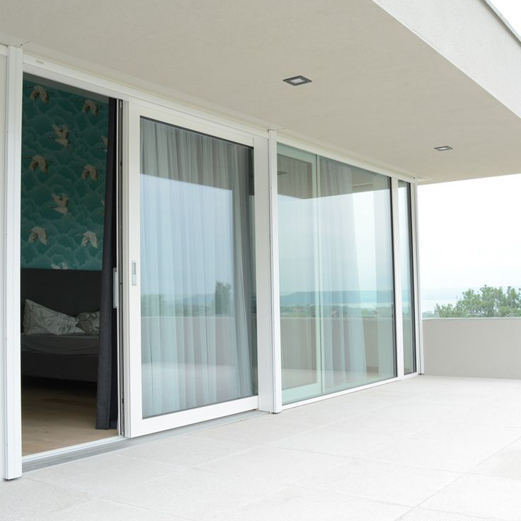 Spacious windows, large glass surfaces and white color! Perfect combination for the modern, pure, luxury homes!