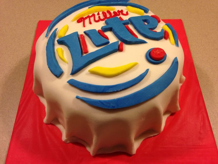 Miller Lite cake for a 21 year-d boy