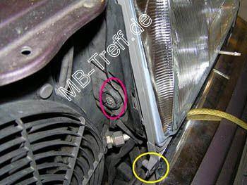 Tipps-tricks   Mercedes 200D - 500E (w124)   Ausbau der Scheinwerfer: Bild 4