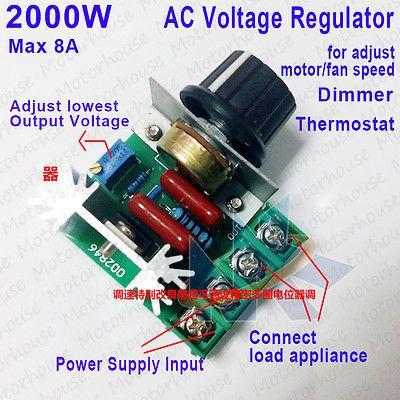 dimmer 50-220v 2000w Regulador de voltaje
