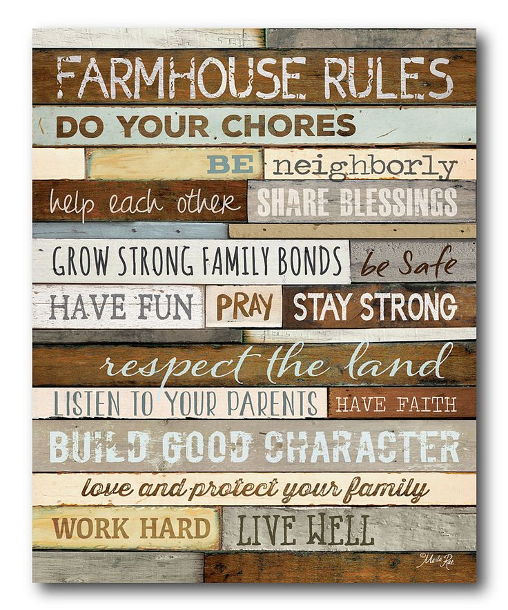 Look at this 'Farmhouse Rules' Gallery-Wrapped Canvas on #zulily today!