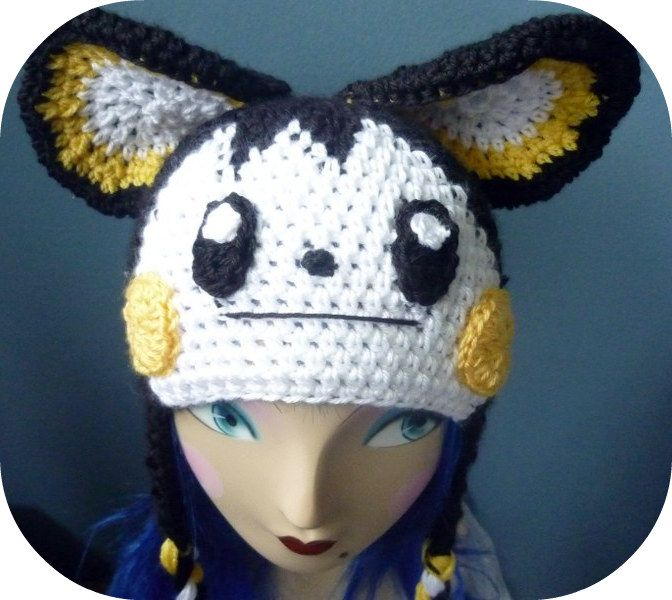 crochet pokemon hat | Emolga Pokemon Hat Beanie Crochet