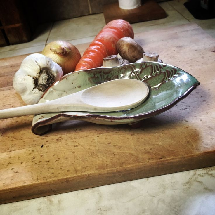 Ceramic Spoon Rest. Spoon Holder. Pottery Spoon Rest. Stoneware Spoon Rest. Kitchen Spoon Rest. Rustic Spoon Rest. Handmade Spoon Rest. Dish by FaeGartenClay on Etsy