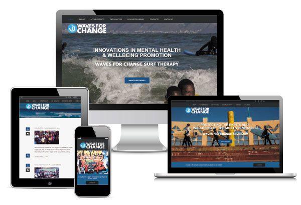 Waves For Change Website Rebrand