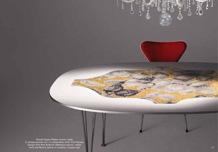 17 best images about super elliptical table on pinterest for Bisazza carrelage