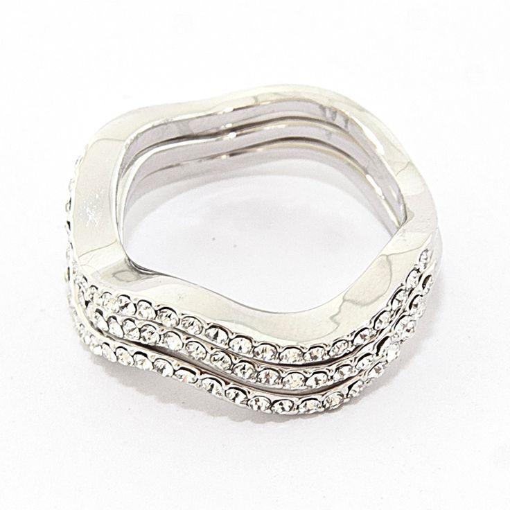 """Кольцо """"Трипл"""", разделяется на 3 отдельных колечка, размеры 16-19, beauty-mix.com.ua"""