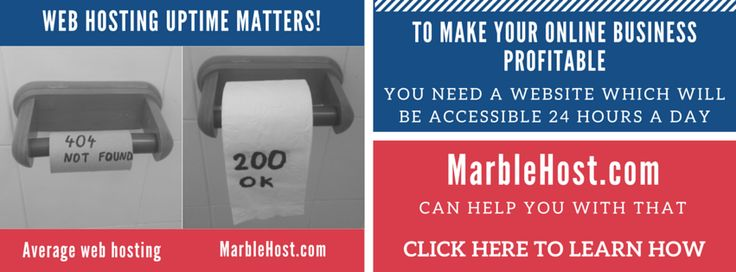 MarbleHost.com web hosting services - 99.9% uptime guarantee infographic