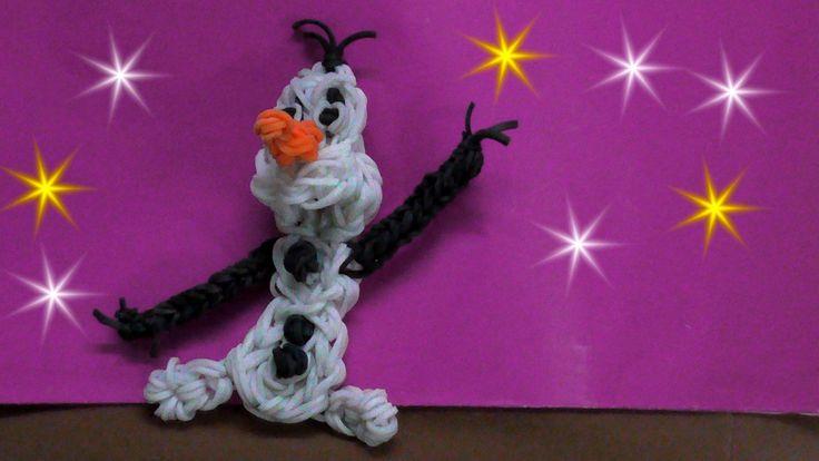 Rainbow Loom Charms : OLAF (frozen) Charm : How To Design Charms Tutoria...