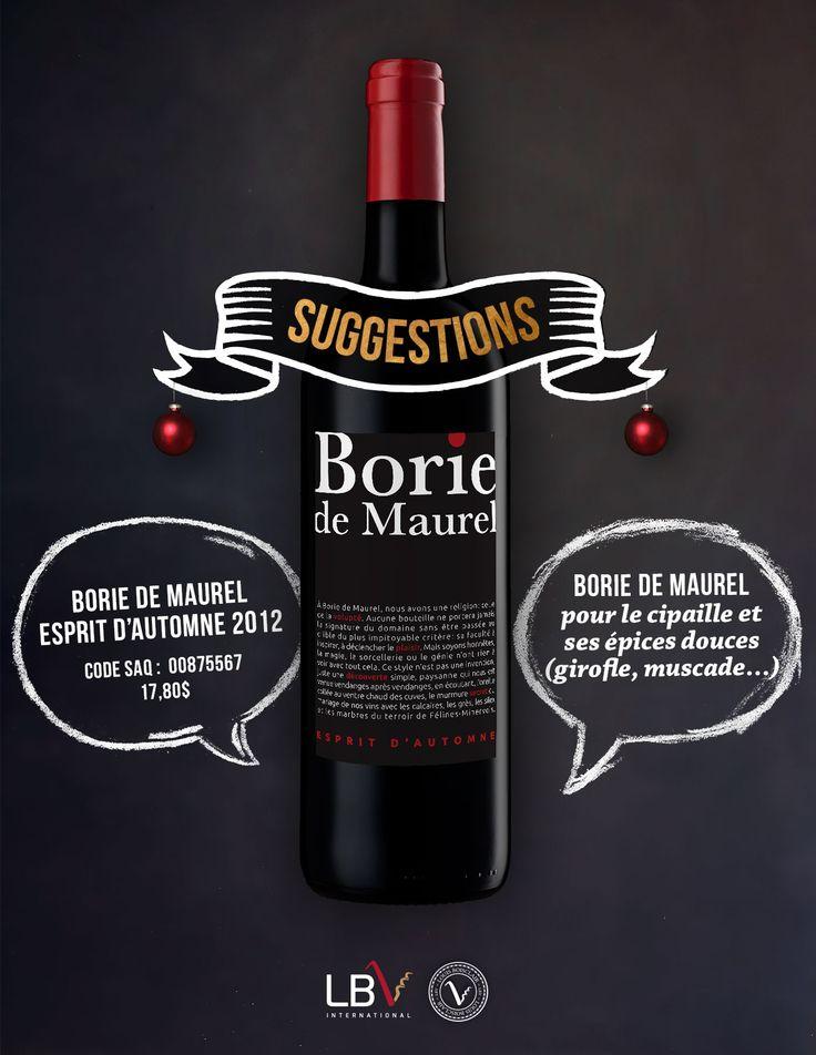 Borie de Maurel, Esprit d'Automne 2012 Code SAQ : 00875567 | 17,80$