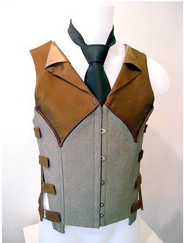 Male corsetry is at last beginning to get its due regard in fashion.  High bloody time, says I.